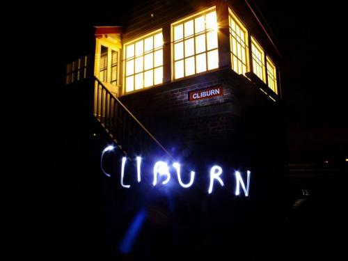 Cliburn Signal Box by night